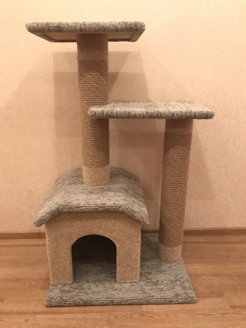 A new house play set for cats